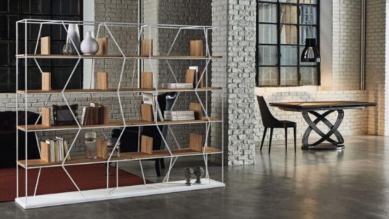 Libreria in metallo Lexington di Bontempi Casa da Siffredi Mobili Villanova d'Albenga